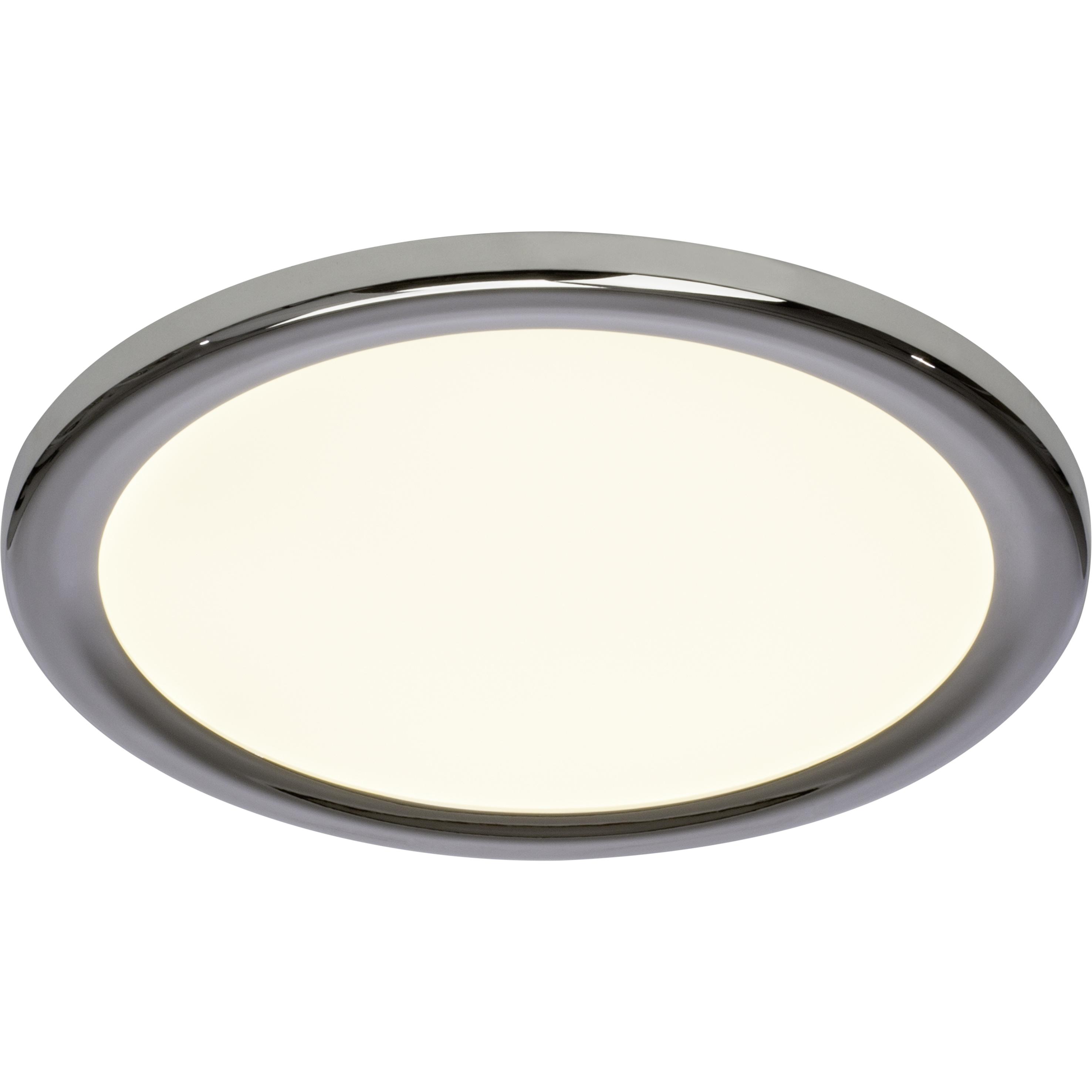 Brilliant Leuchten Palin LED Wand- und Deckenleuchte 30cm chrom/weiß