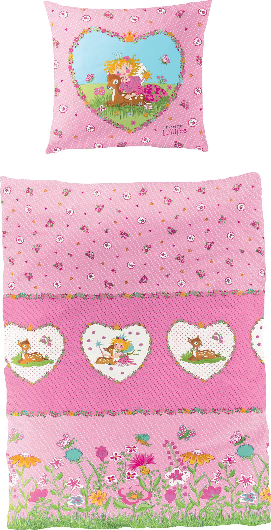 Kinderbettwäsche Reh Prinzessin Lillifee