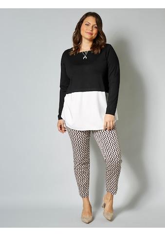 Sara Lindholm by Happy Size Pullover mit Webkante kaufen