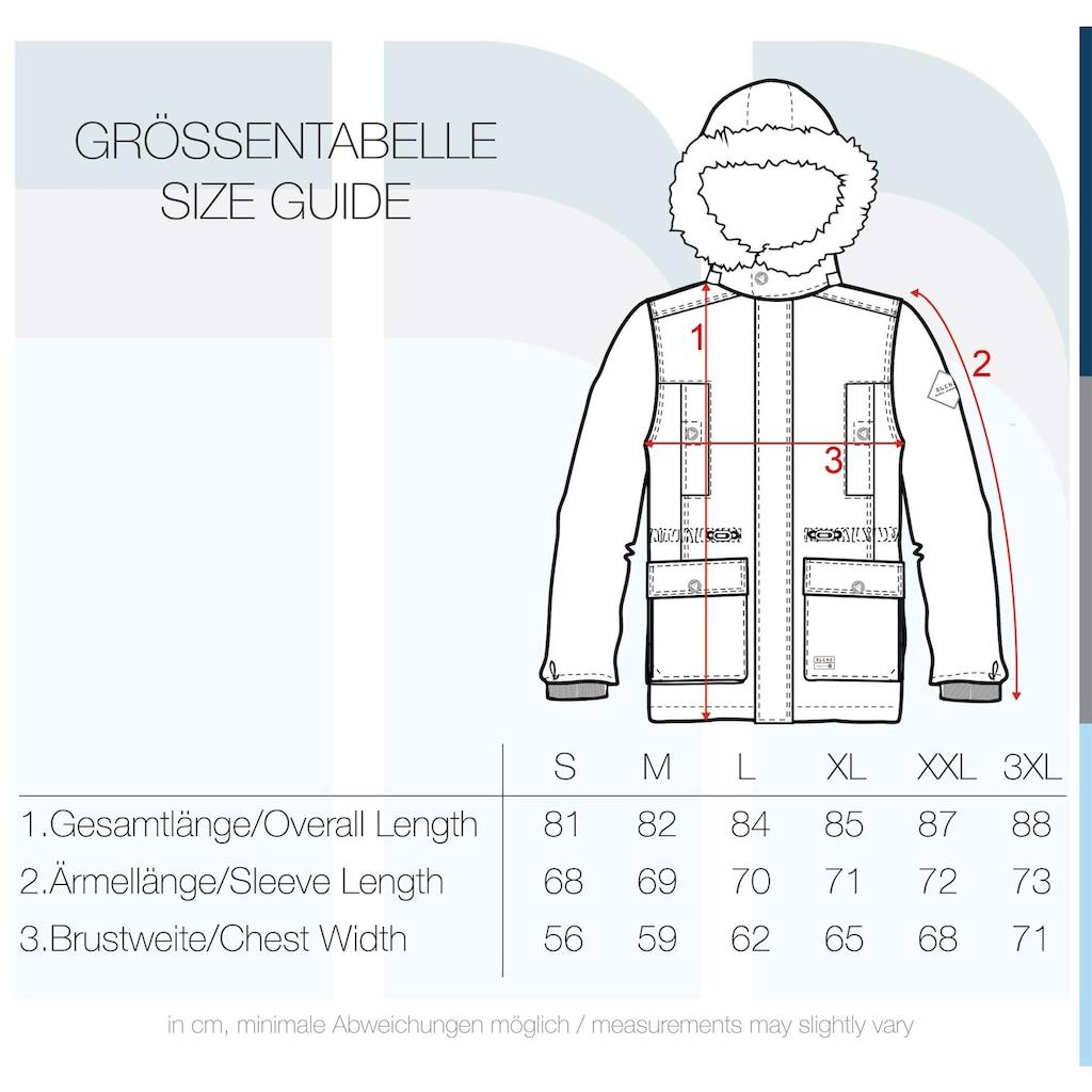 Blend Parka »Polygro«, warme Jacke mit abnehmbarer Kapuze und Kunstfellkragen