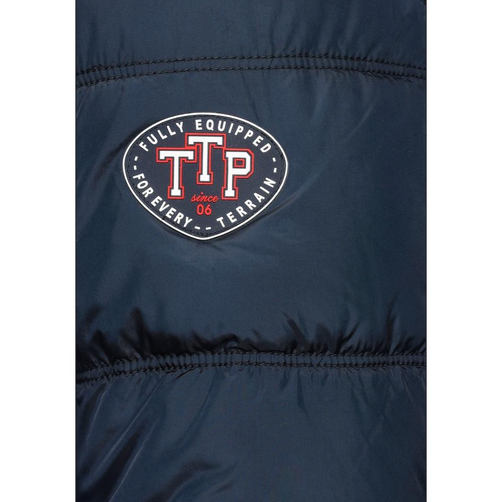 TOM TAILOR Polo Team Steppjacke, mit Teddyfell in der Kapuze
