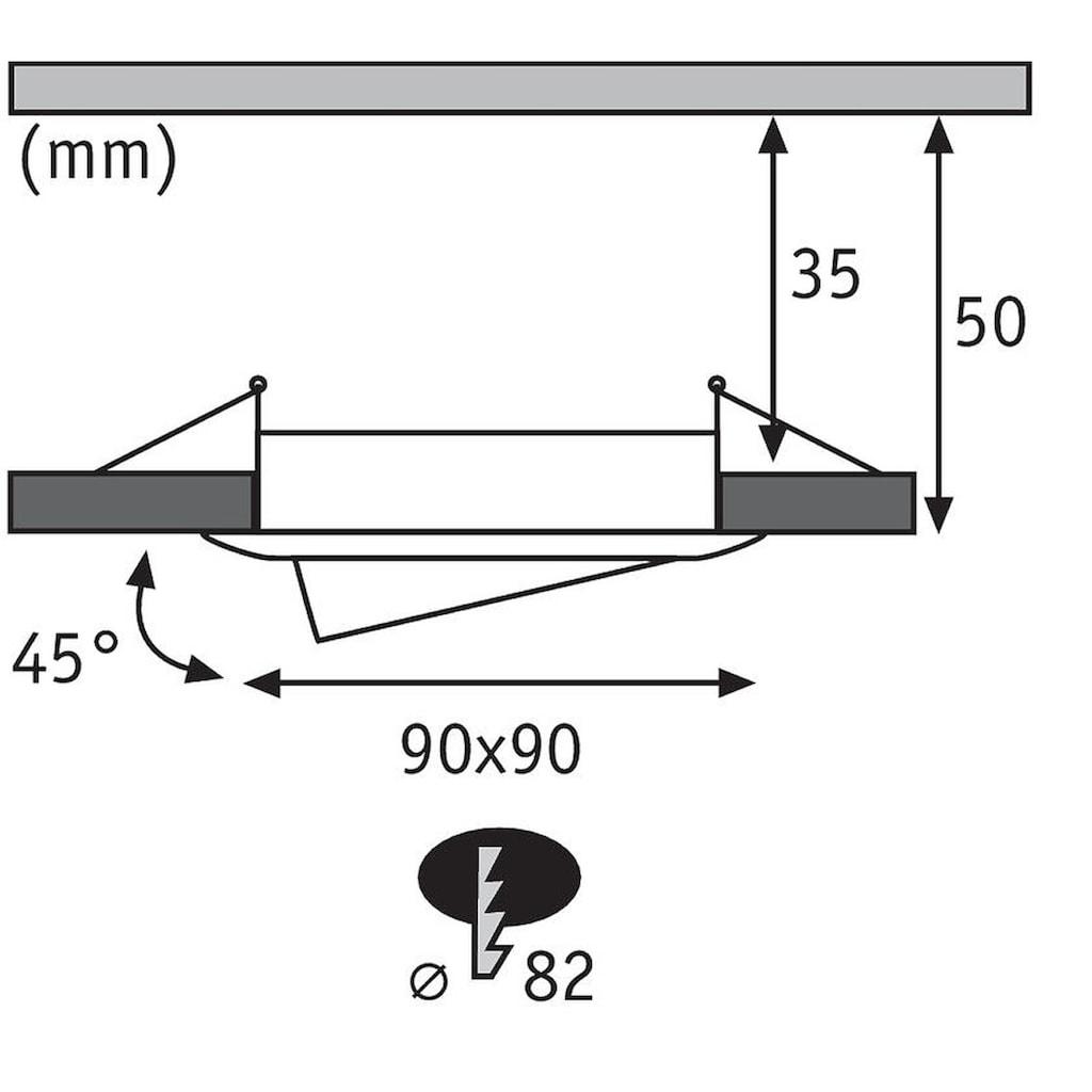 Paulmann LED Einbaustrahler »3er-Set Coin schwenkbar satiniert eckig 6,8W Alu«, 3 St., Warmweiß