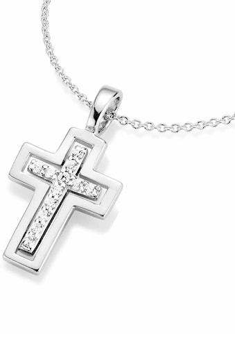 Firetti Kette mit Anhänger »Kreuz mit eingarbeiteteten Zirkonia - Kreuz« kaufen