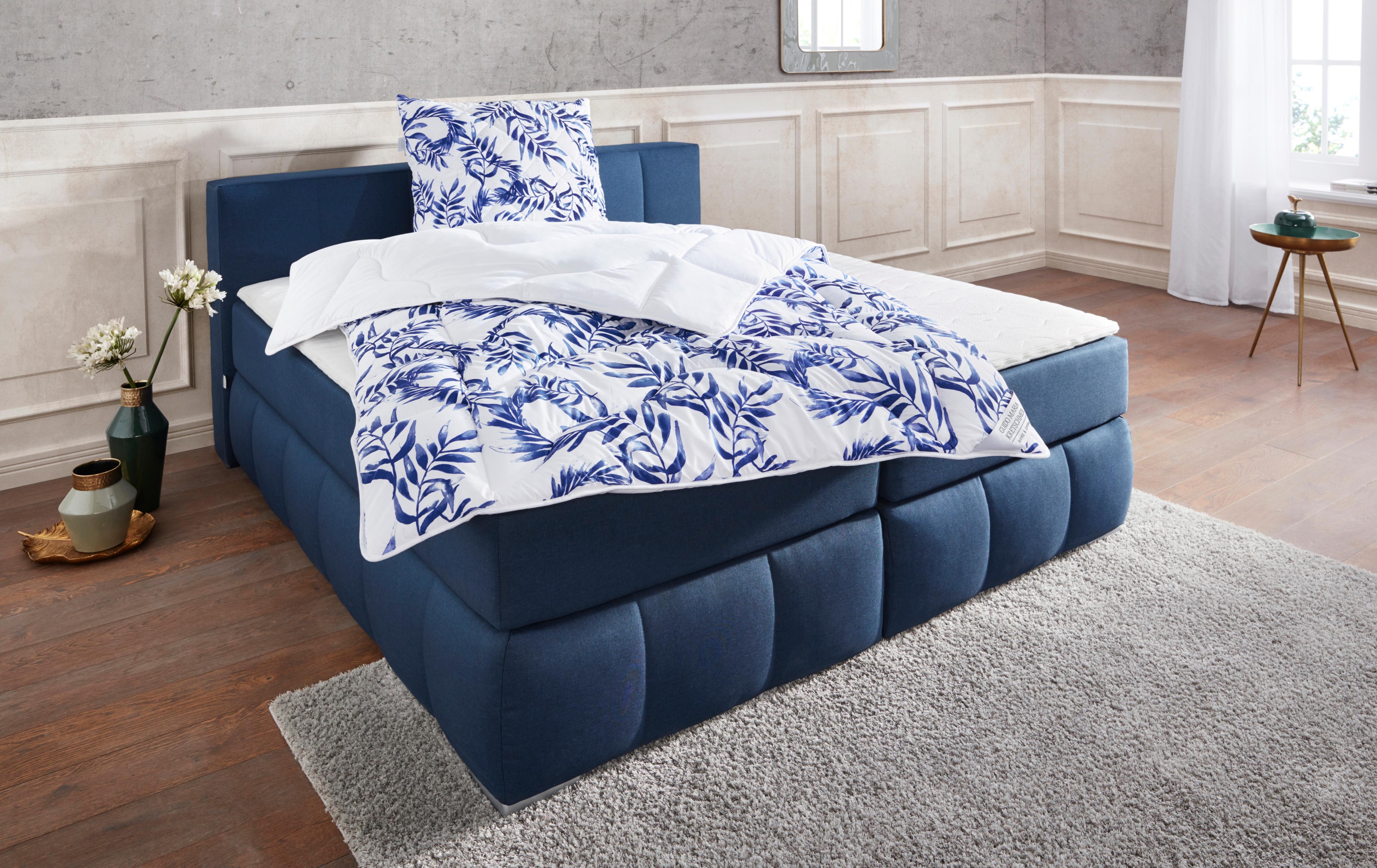 Bettdecke + Kopfkissen Blue leaves Guido Maria Kretschmer Home&Living normal Füllung: HCSKlimafaser (Bettdecke) Faserbällchen (Kopfkissen)