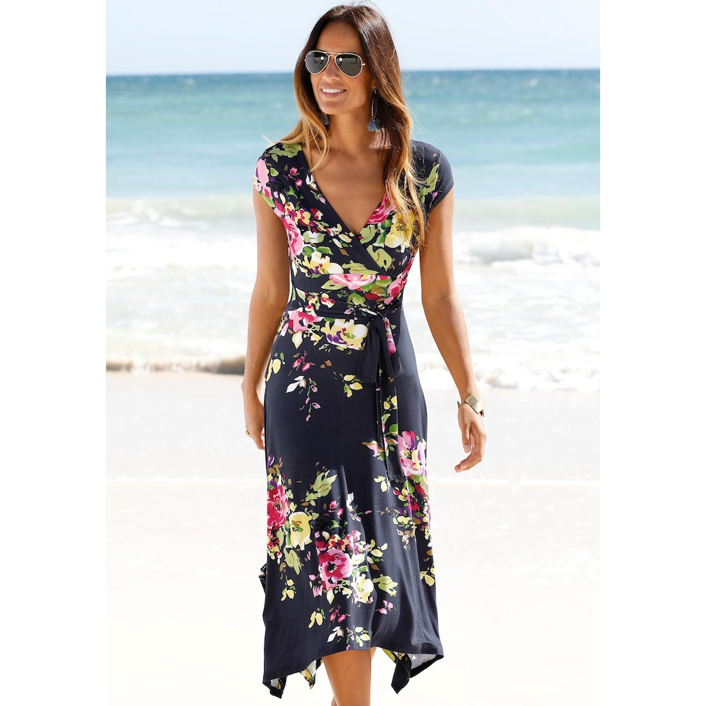 Beachtime Sommerkleid, mit Zipfelsaum