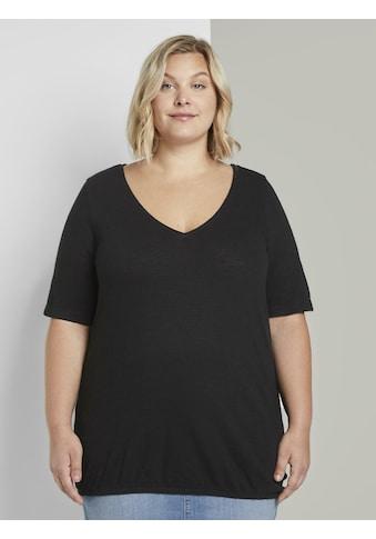 TOM TAILOR MY TRUE ME T - Shirt »T - Shirt mit elastischem Bündchen« kaufen