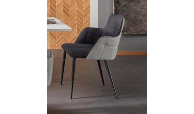 Places of Style Esszimmerstuhl »Iris«, 2er Set, mit schönem Webstoff Bezug, schwarzem... kaufen
