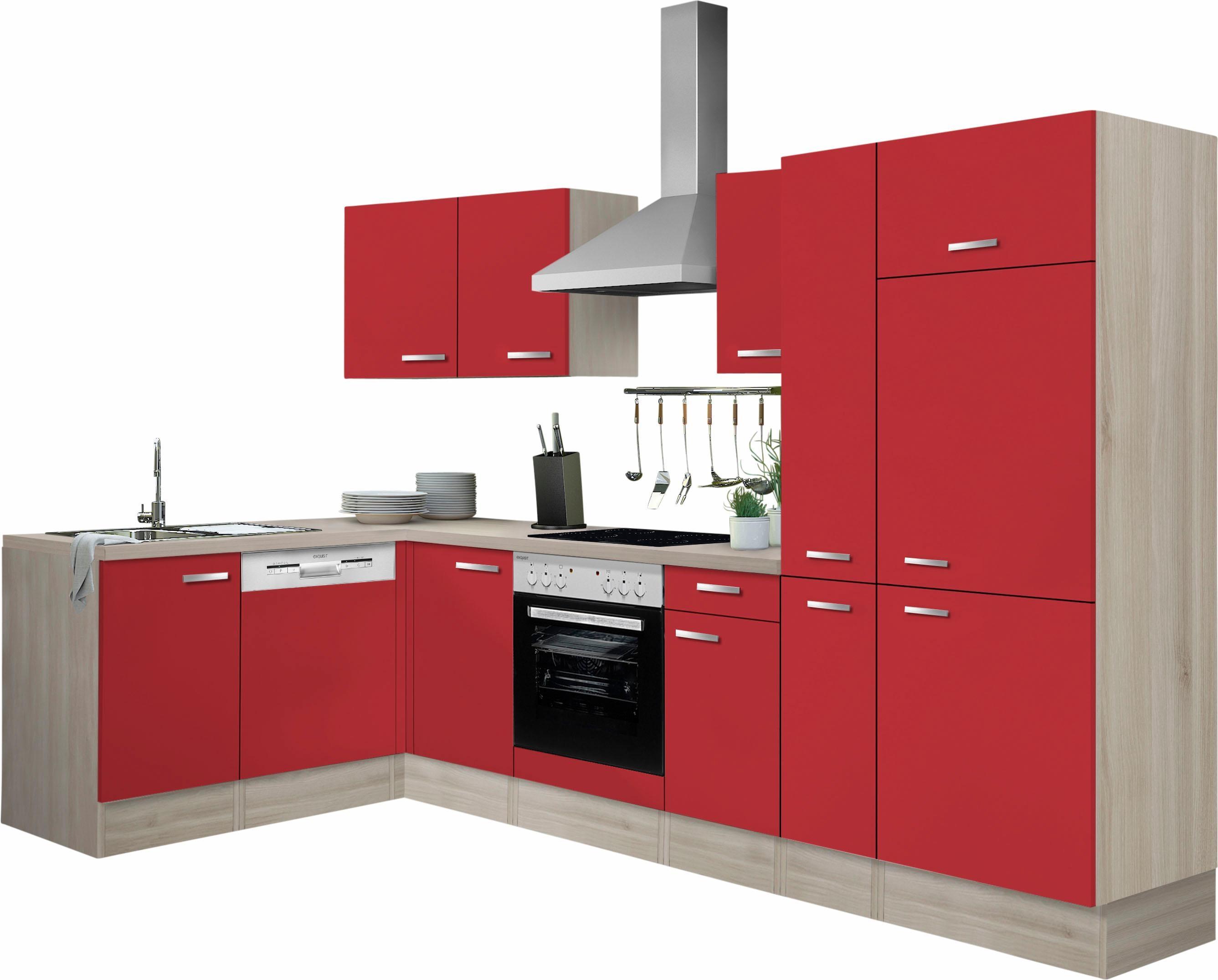 OPTIFIT Winkelküche Faro | Küche und Esszimmer > Küchen > Winkelküchen | Rot | Metall | Optifit