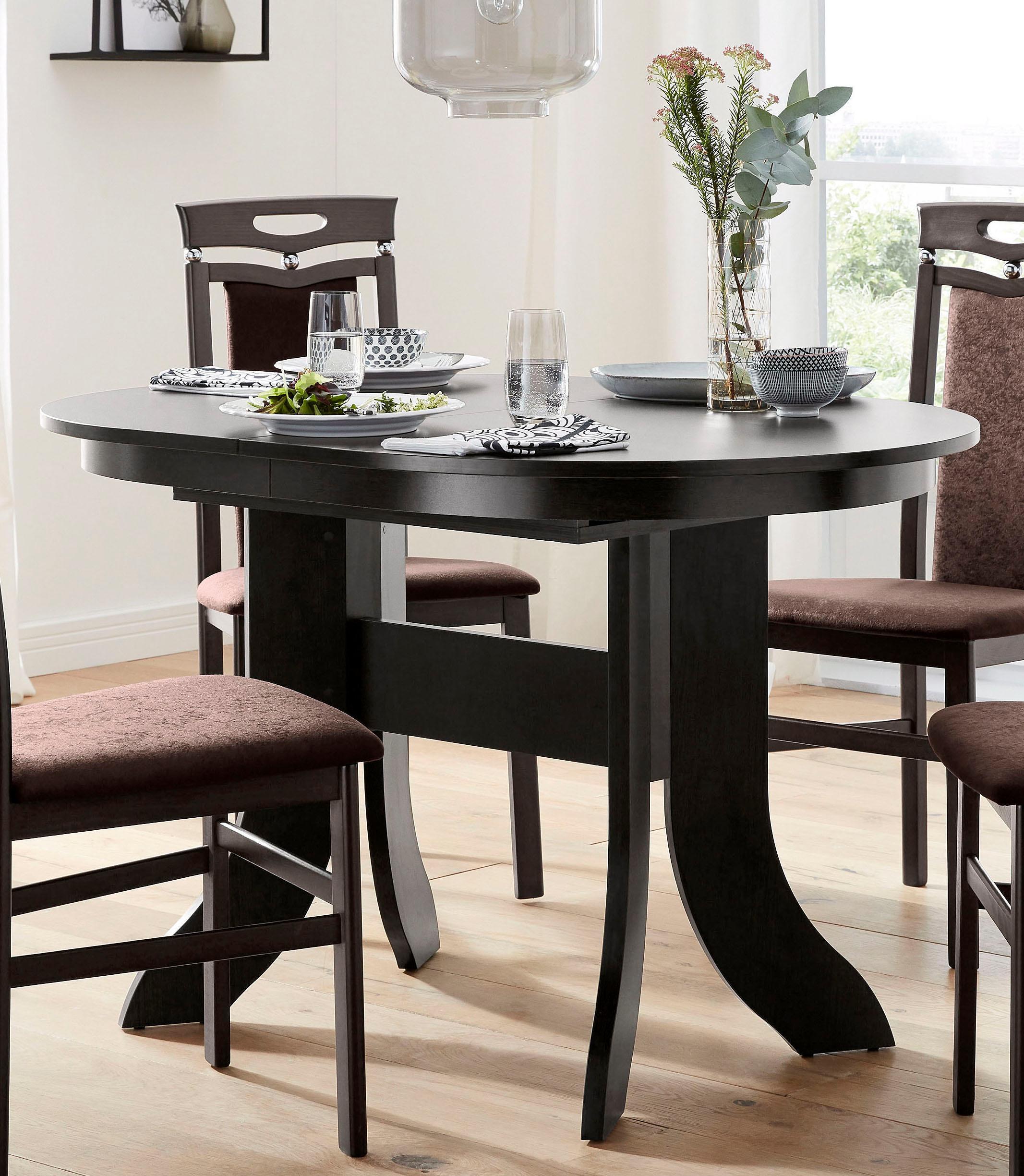 my home Esstisch, Breite 120-160 cm braun Esstisch Ausziehbare Esstische Tische