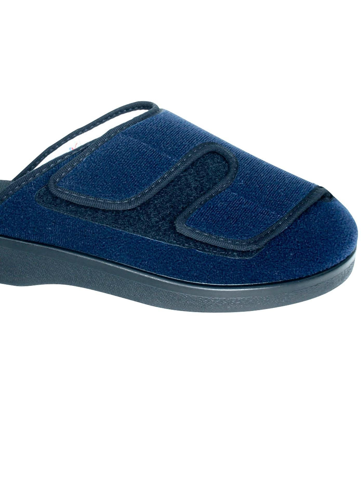 Florett Pantoffel aus Veloursmaterial | Schuhe > Hausschuhe > Pantoffeln | Blau | Polyamid | Florett