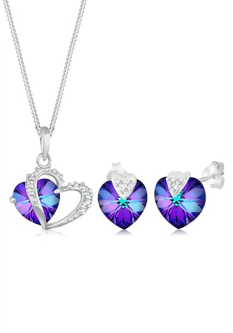 Elli Schmuckset »Herz Swarovski® Kristalle 925 Silber« kaufen