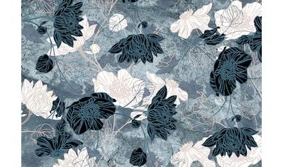 Consalnet Fototapete »Türkiser Blumen Mix«, floral kaufen