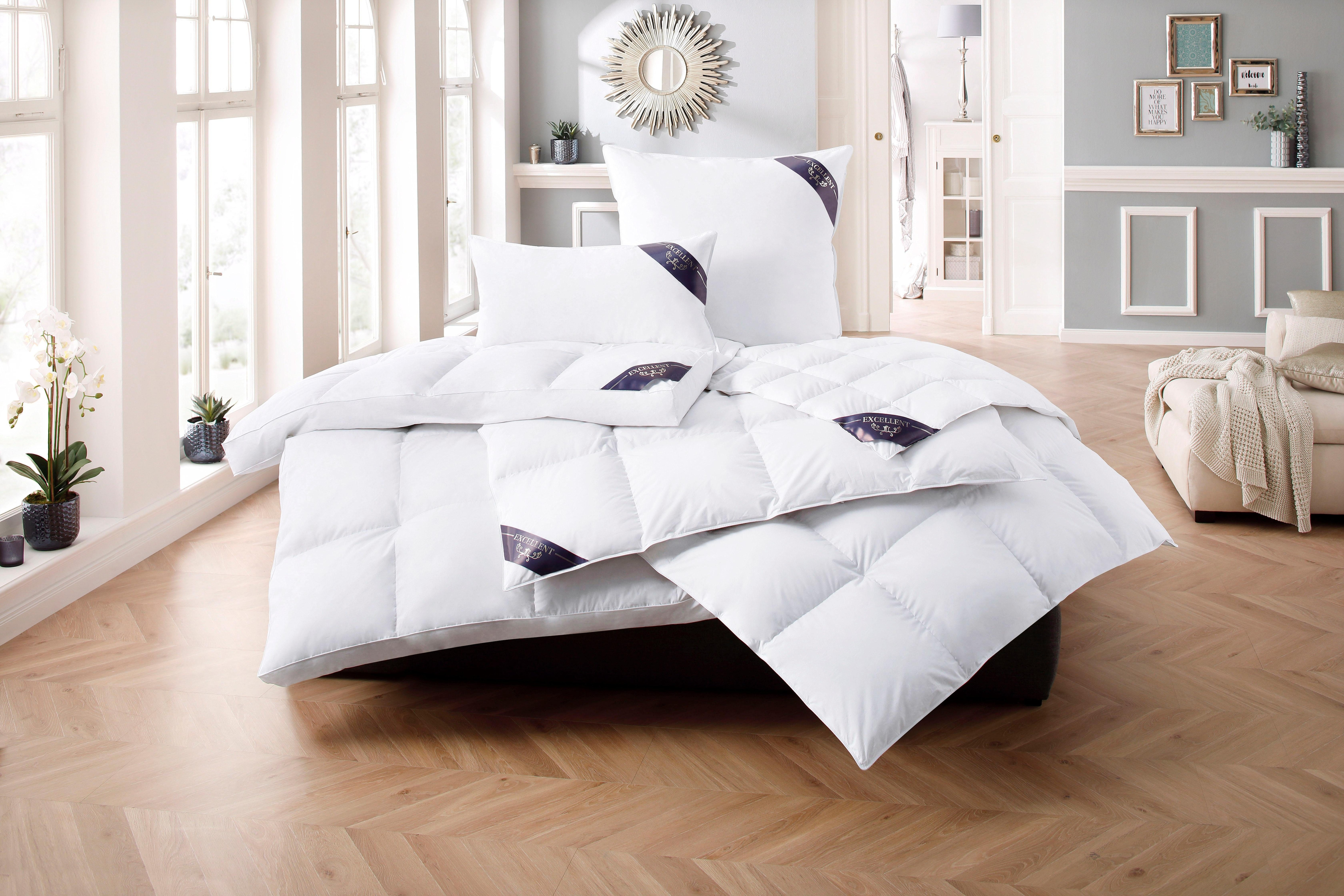 Daunenbettdecke Luxus Excellent leicht Füllung: 80% Daunen 20% Federn Bezug: 100% Baumwolle