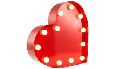 MARQUEE LIGHTS LED Dekolicht »Herz«, 1 St., Warmweiß, Wandlampe, Tischlampe Heart mit... kaufen