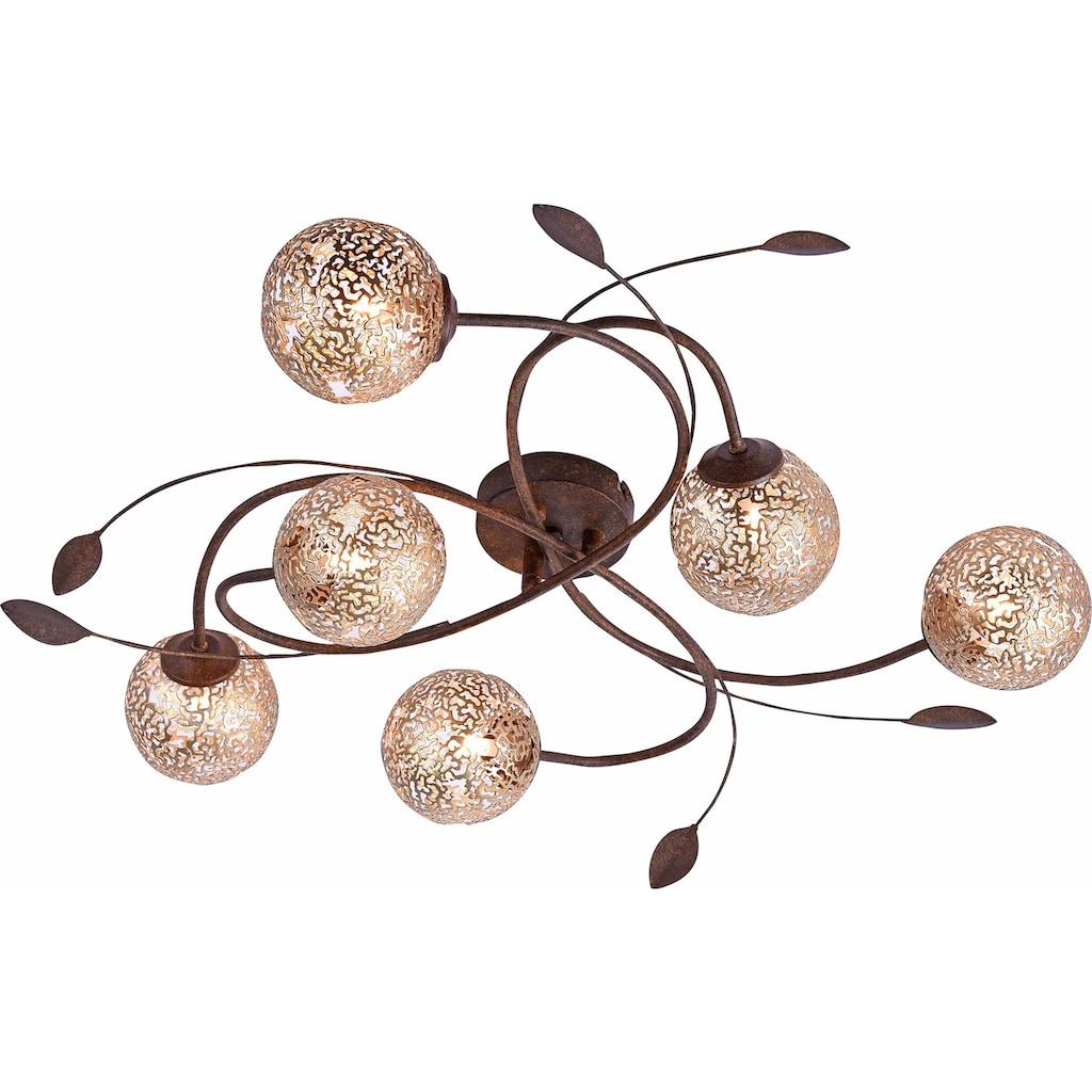 Paul Neuhaus Deckenleuchte »GRETA«, G9, mit goldfarbenen Metallschirmen, ohne Leuchtmittel