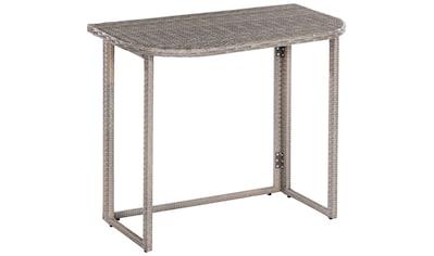 MERXX Gartentisch »Klapptisch für Eckbank«, Stahl/Kunststoff, 90x50 cm, klappbar kaufen