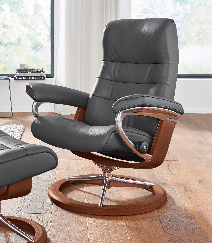 Stressless Relaxsessel Opal mit Signature Base Größe M mit Schlaffunktion   Wohnzimmer > Sessel > Relaxsessel   Buchenholz - Leder   Stressless