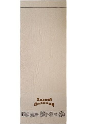 """Saunatuch """"Saunaordnung"""", Dyckhoff kaufen"""