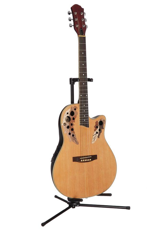 Akustikgitarre, »Roundbackgitarre 4/4 mit Equalizer«, MSA