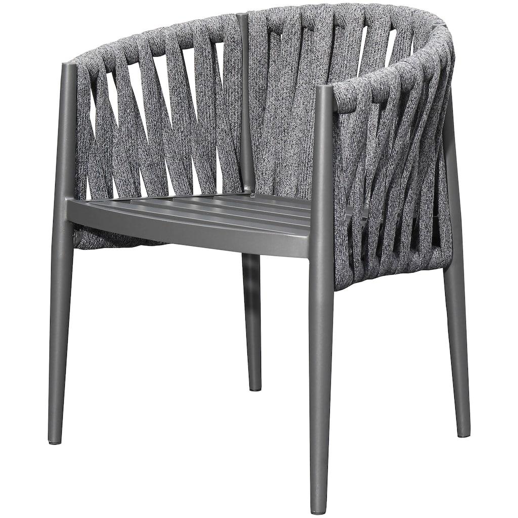 bella sole Gartenmöbelset, (7 tlg.), 6 Stühle mit Tisch