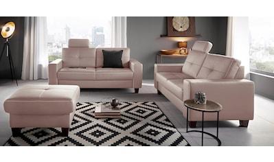 Places of Style 3-Sitzer »Casoria«, mit Kreuznaht und Federkern kaufen