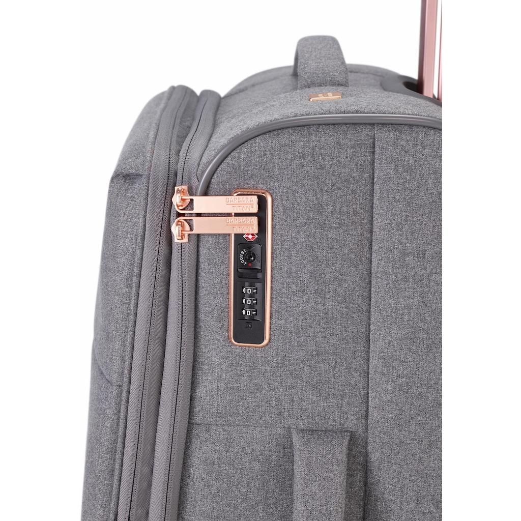 TITAN® Weichgepäck-Trolley »BARBARA & TITAN®, Barbara, 67 cm«, 4 Rollen