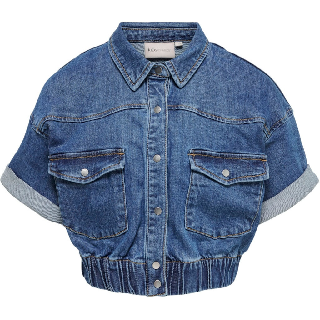 KIDS ONLY Jeansbluse »Name KONSOPHIE«, in kurzer Form