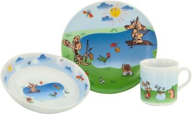 "CreaTable Frühstücks - Set ""Angeln"" (3 - tlg.), Porzellan kaufen"