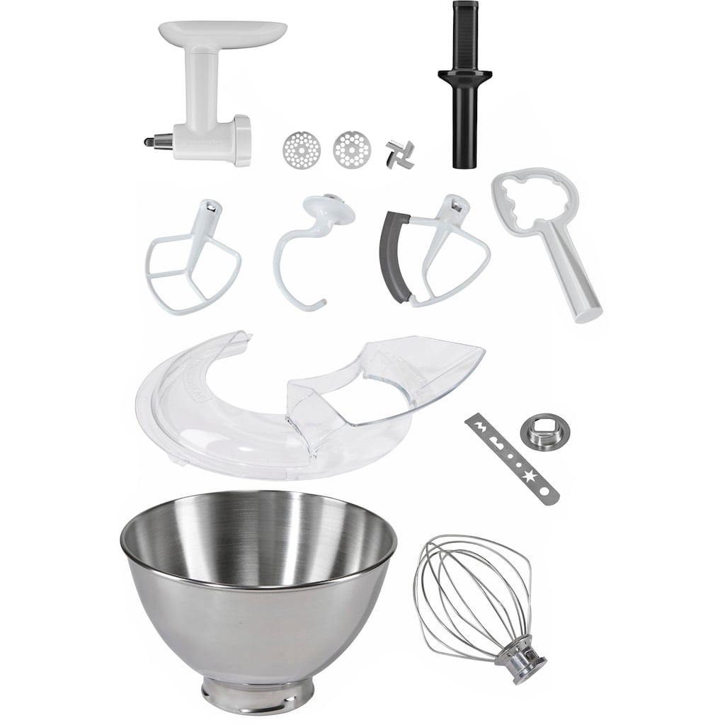 KitchenAid Küchenmaschine »5KSM175SEIC Artisan«, 300 W, 4,8 l Schüssel, inkl. Sonderzubehör im Wert von ca. 106,-€ UVP