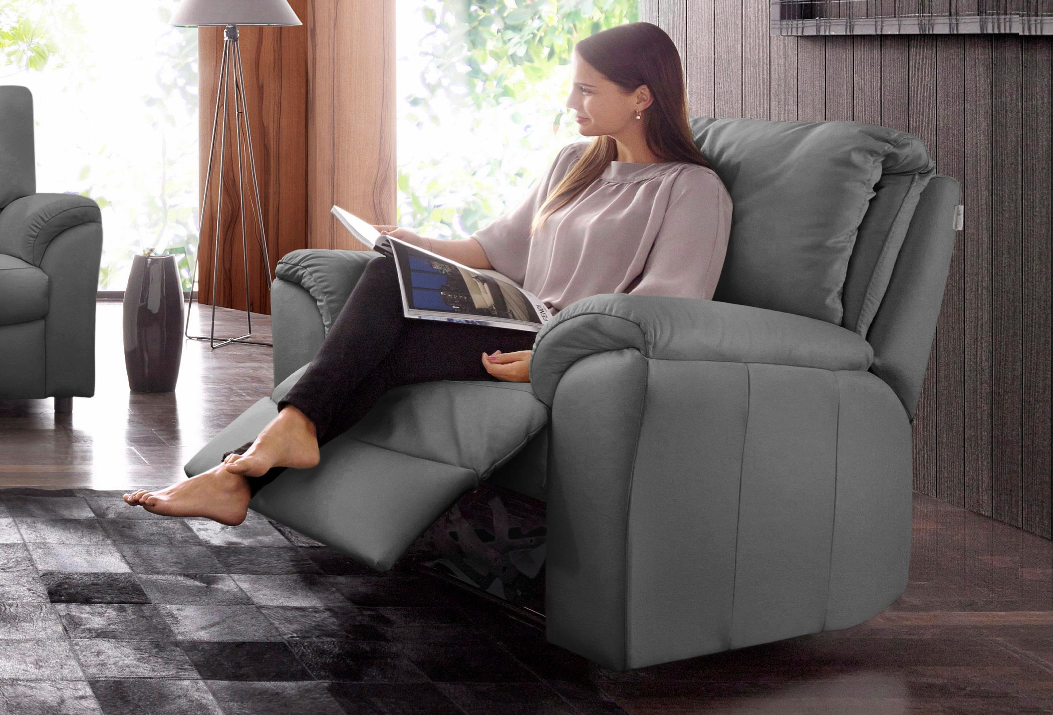 CALIA ITALIA Relaxsessel CS Mark, mit manueller Einstellung grau Sessel