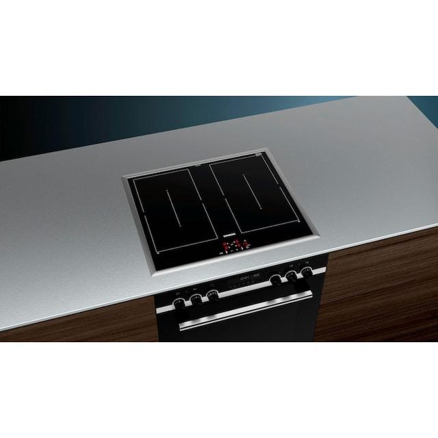 SIEMENS Flex-Induktions-Herd-Set iQ500, 2-fach-Teleskopauszug, Pyrolyse-Selbstreinigung