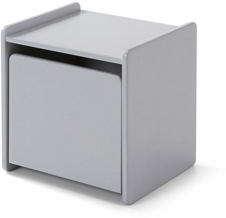 Vipack Nachttisch Kiddy MDF-Oberfläche | Schlafzimmer > Nachttische | Grau | Vipack
