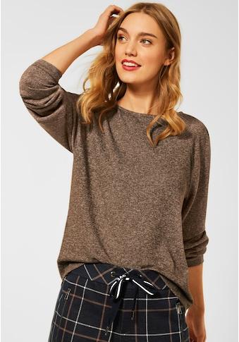STREET ONE Langarmshirt, im Melange Look kaufen