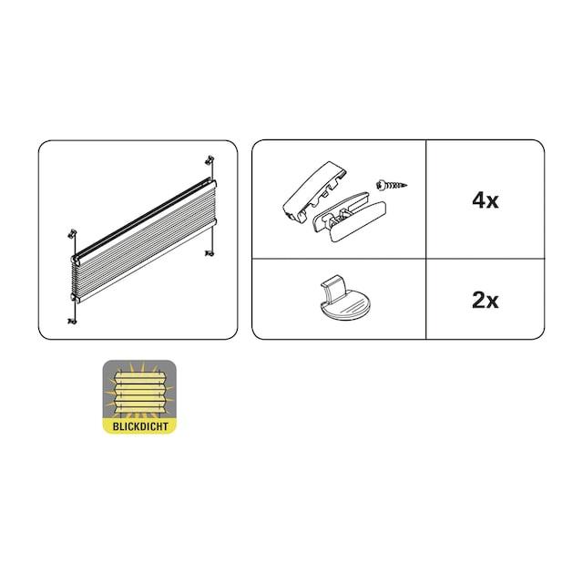 Plissee, »Plissee mit 2 Bedienschienen«, WOHNIDEE-Kollektion, Lichtschutz, mit Bohren, verspannt