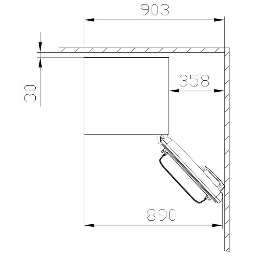 Amica Table Top Kühlschrank, KS15610R, 86 cm hoch, 55 cm breit