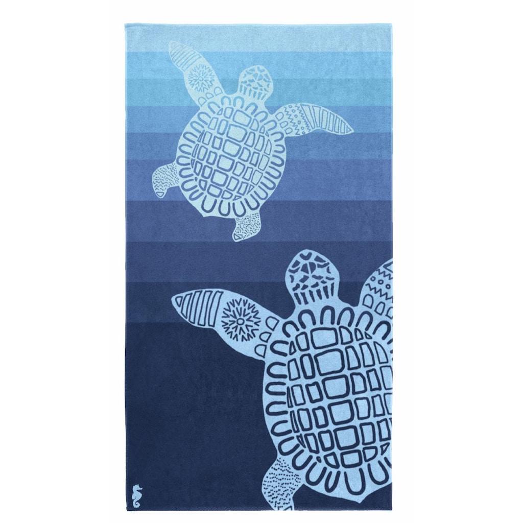 Seahorse Strandtuch »Turtle«, (1 St.), mit Schildkröten Motiv