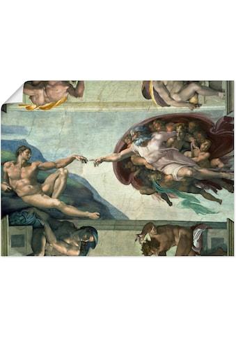 Artland Wandbild »Die Erschaffung des Adam« kaufen