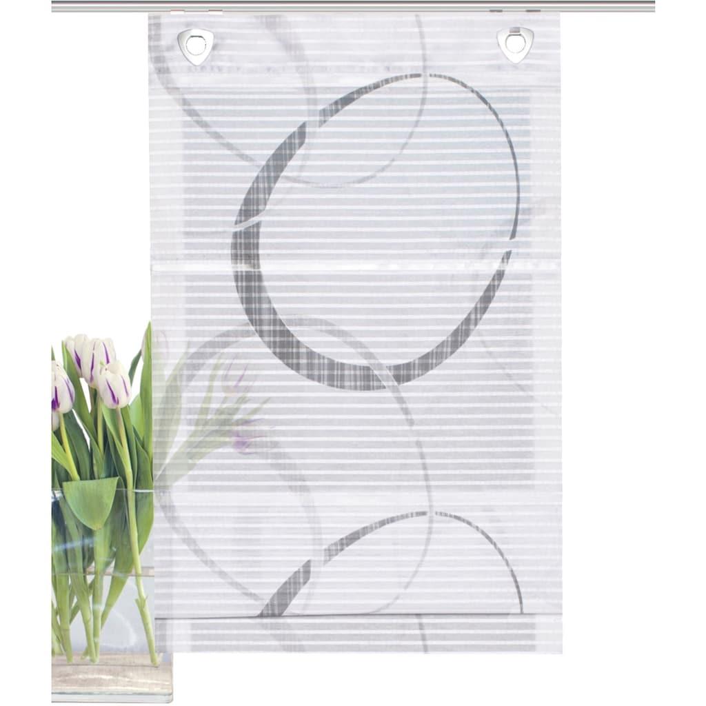 HOME WOHNIDEEN Raffrollo »VITUS«, mit Ösen, freihängend, Querstreifen Digitaldruck