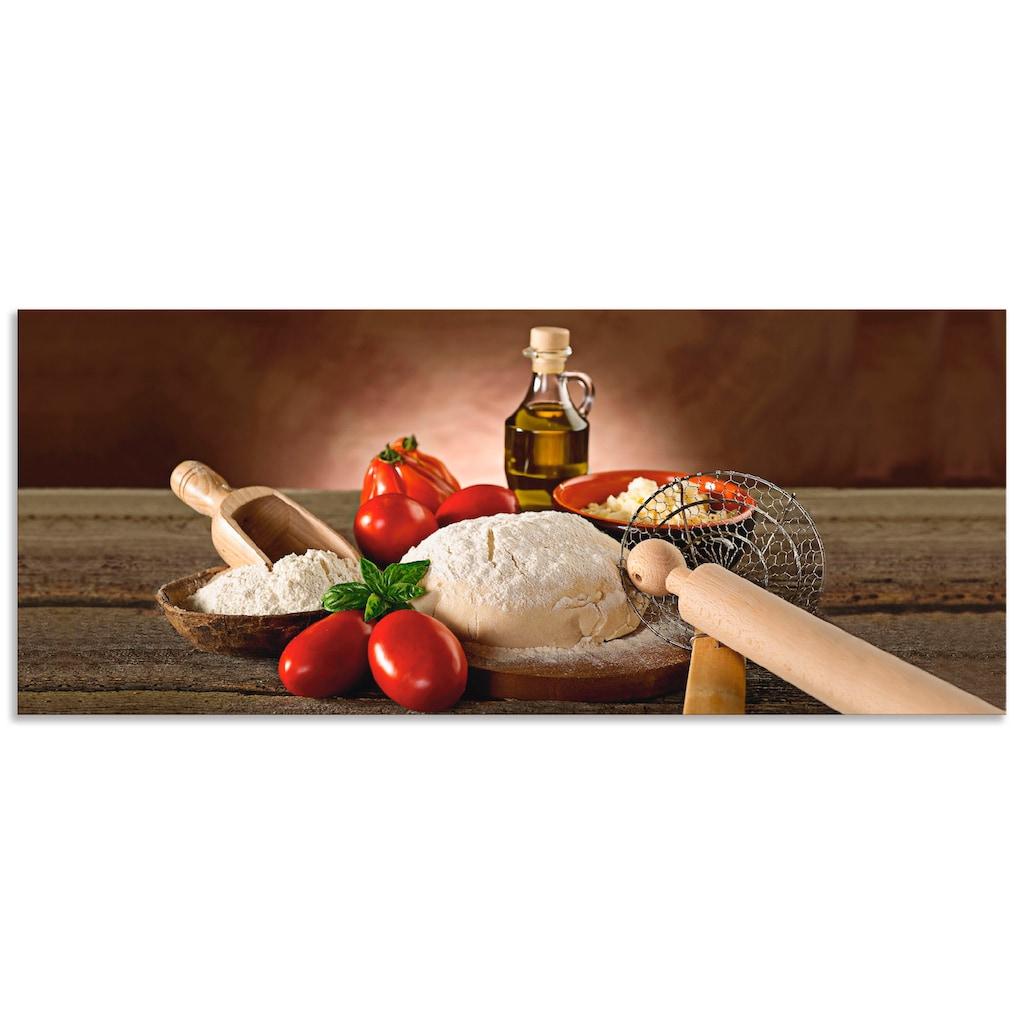 Artland Küchenrückwand »Teig für Pizza«