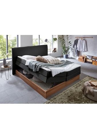 Premium collection by Home affaire Boxspringbett »Blomen«, mit Walnuss-Dekor, mit... kaufen