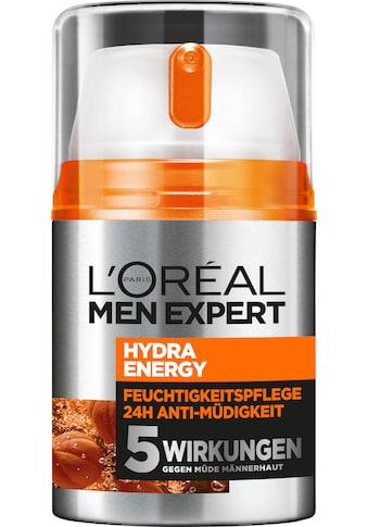 L'ORÉAL PARIS MEN EXPERT Feuchtigkeitscreme »Hydra Energy 24H Anti-Müdigkeit«, Feuchtigkeitspflege mit Vitamin C & Guarana kaufen