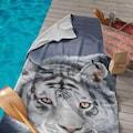 Seahorse Strandtuch »Blaze«, (1 St.), mit weißem Tiger Aufdruck