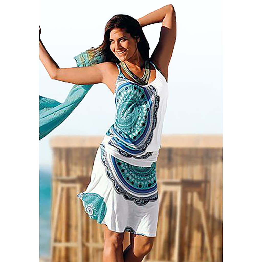Beachtime Strandkleid, mit Alloverprint