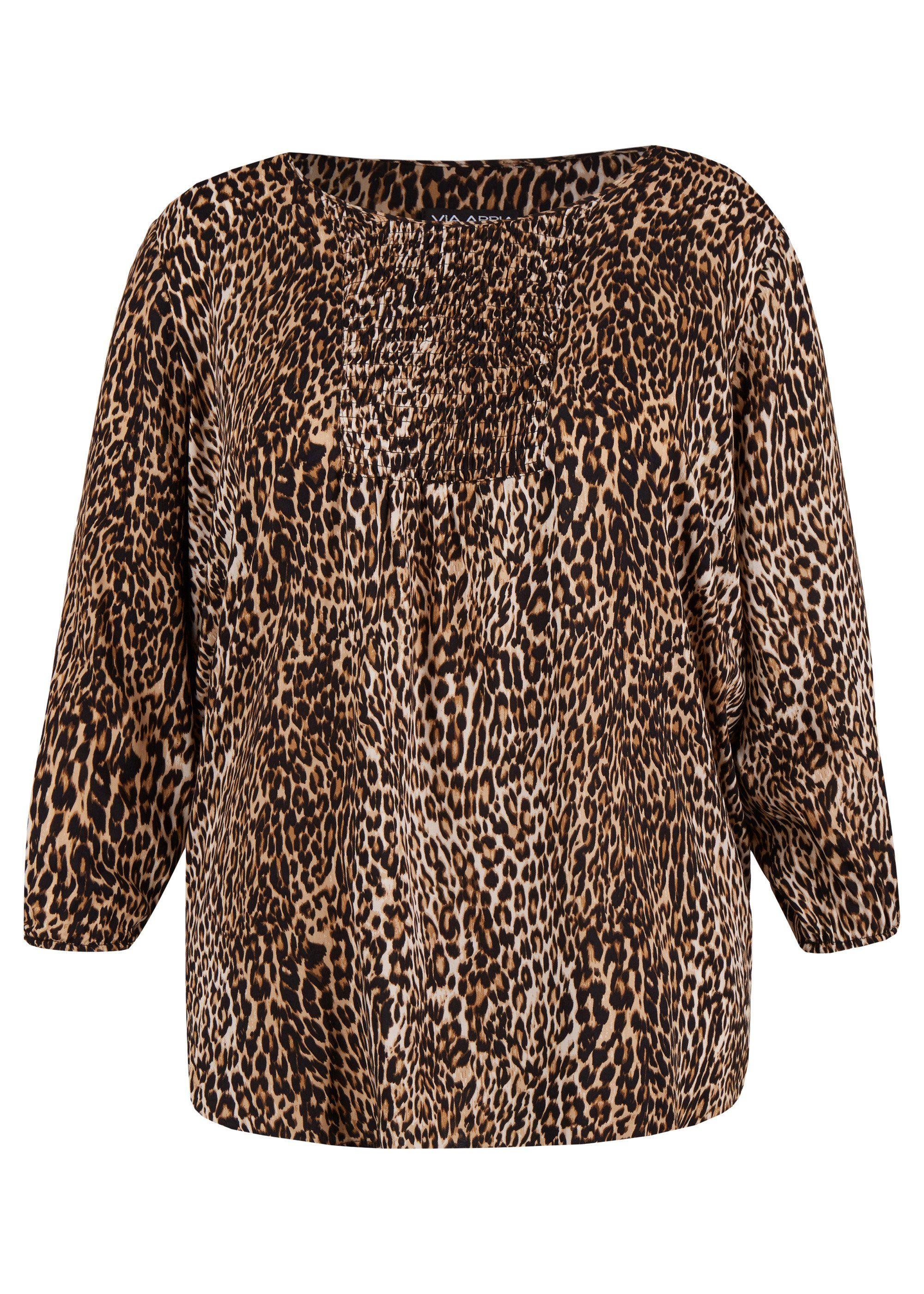 VIA APPIA DUE Feminine Bluse im Animal-Stil