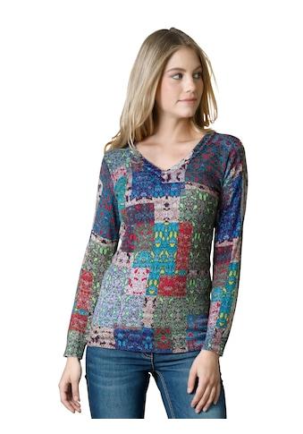 Amy Vermont V-Ausschnitt-Pullover, mit grafischem Druck kaufen