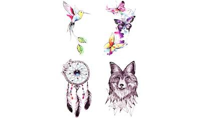 Schmuck-Tattoo »Wild Summer«, (4 tlg.), XXL Format kaufen
