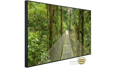 Papermoon Infrarotheizung »Hängebrücke durch Dschungel«, sehr angenehme Strahlungswärme kaufen