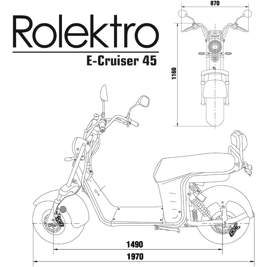 Rolektro E-Motorroller »E-Cruiser 45 Lithium, Schwarz, 2x 60V-20Ah Akku, 1500 Watt«