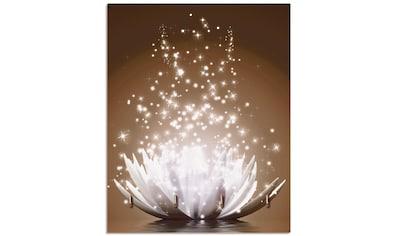 Artland Schlüsselbrett »Magie der Lotus - Blume braun« kaufen