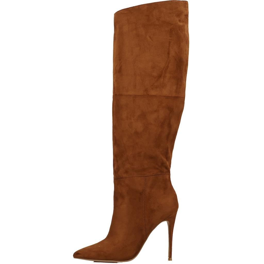 STEVE MADDEN High-Heel-Stiefel »Veloursleder«
